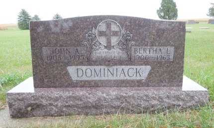 DOMINIACK, JOHN A - Spink County, South Dakota | JOHN A DOMINIACK - South Dakota Gravestone Photos