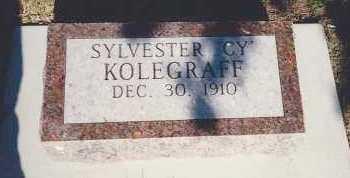 "KOLEGRAFF, SYLVESTER ""CY"" - Spink County, South Dakota | SYLVESTER ""CY"" KOLEGRAFF - South Dakota Gravestone Photos"