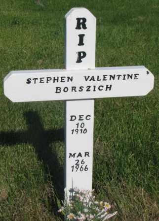 BORSZICH, STEPHEN VALENTINE - Todd County, South Dakota   STEPHEN VALENTINE BORSZICH - South Dakota Gravestone Photos