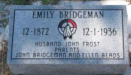 BRIDGEMAN, EMILY - Todd County, South Dakota | EMILY BRIDGEMAN - South Dakota Gravestone Photos