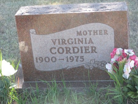 CORDIER, VIRGINIA - Todd County, South Dakota | VIRGINIA CORDIER - South Dakota Gravestone Photos