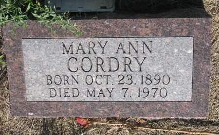 BEAUVAIS CORDRY, MARY ANN - Todd County, South Dakota | MARY ANN BEAUVAIS CORDRY - South Dakota Gravestone Photos
