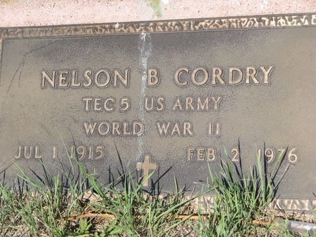 CORDRY, NELSON B. - Todd County, South Dakota | NELSON B. CORDRY - South Dakota Gravestone Photos