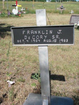 DECORY, FRANKLIN J. SR. - Todd County, South Dakota | FRANKLIN J. SR. DECORY - South Dakota Gravestone Photos