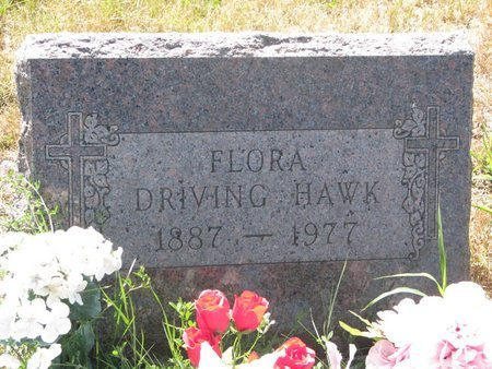 DRIVING HAWK, FLORENCE FLORA - Todd County, South Dakota | FLORENCE FLORA DRIVING HAWK - South Dakota Gravestone Photos