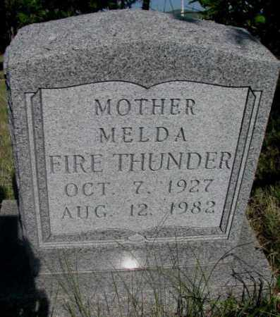 FIRE THUNDER, MELDA - Todd County, South Dakota | MELDA FIRE THUNDER - South Dakota Gravestone Photos