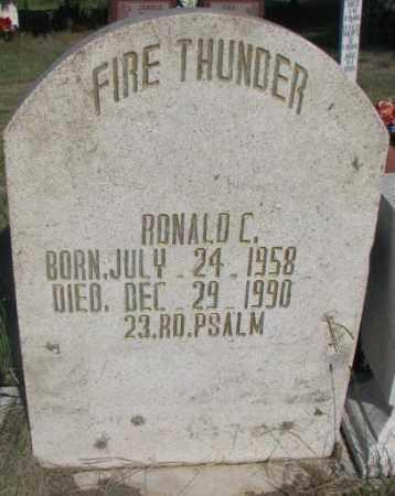 FIRE THUNDER, RONALD C. - Todd County, South Dakota   RONALD C. FIRE THUNDER - South Dakota Gravestone Photos