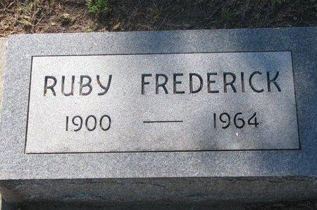 FREDERICK, RUBY - Todd County, South Dakota   RUBY FREDERICK - South Dakota Gravestone Photos