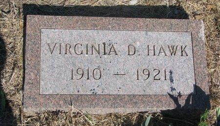 HAWK, VIRGINIA D. - Todd County, South Dakota | VIRGINIA D. HAWK - South Dakota Gravestone Photos