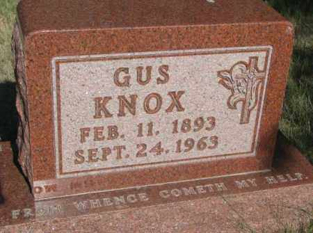 KNOX, GUS - Todd County, South Dakota   GUS KNOX - South Dakota Gravestone Photos