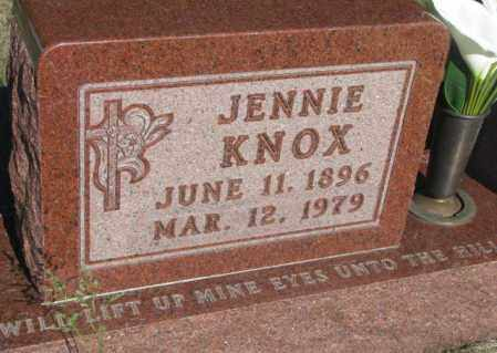 KNOX, JENNIE - Todd County, South Dakota | JENNIE KNOX - South Dakota Gravestone Photos