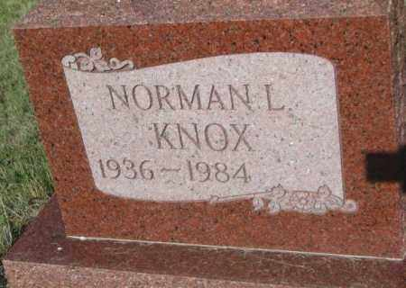 KNOX, NORMAN L. - Todd County, South Dakota | NORMAN L. KNOX - South Dakota Gravestone Photos