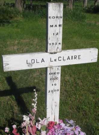 LECLAIRE, LOLA - Todd County, South Dakota   LOLA LECLAIRE - South Dakota Gravestone Photos