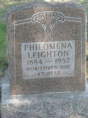 BEAUVAIS LEIGHTON, PHILOMENA - Todd County, South Dakota | PHILOMENA BEAUVAIS LEIGHTON - South Dakota Gravestone Photos