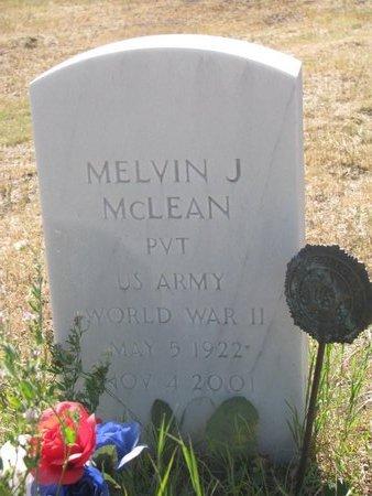 MCLEAN, MELVIN J. - Todd County, South Dakota | MELVIN J. MCLEAN - South Dakota Gravestone Photos