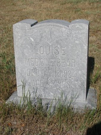 MEDICINE BEAR, LOUISE - Todd County, South Dakota | LOUISE MEDICINE BEAR - South Dakota Gravestone Photos