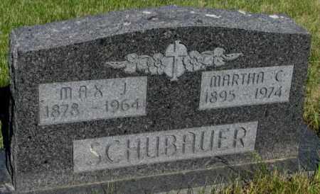 SCHUBAUER, MARTHA C. - Todd County, South Dakota | MARTHA C. SCHUBAUER - South Dakota Gravestone Photos