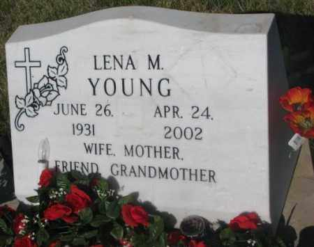 YOUNG, LENA M. - Todd County, South Dakota   LENA M. YOUNG - South Dakota Gravestone Photos