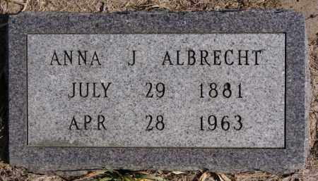 ALBRECHT, ANNA J - Turner County, South Dakota | ANNA J ALBRECHT - South Dakota Gravestone Photos