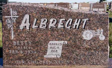 GRABER ALBRECHT, BETTY - Turner County, South Dakota | BETTY GRABER ALBRECHT - South Dakota Gravestone Photos