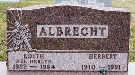 HERLYN ALBRECHT, EDITH - Turner County, South Dakota | EDITH HERLYN ALBRECHT - South Dakota Gravestone Photos