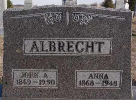 ALBRECHT, JOHN A - Turner County, South Dakota   JOHN A ALBRECHT - South Dakota Gravestone Photos
