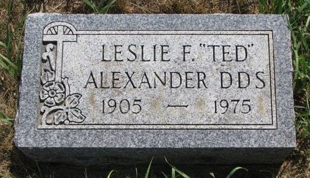 """ALEXANDER, LESLIE F. """"TED"""" - Turner County, South Dakota   LESLIE F. """"TED"""" ALEXANDER - South Dakota Gravestone Photos"""