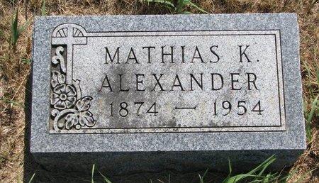 ALEXANDER, MATHIAS KENDAL - Turner County, South Dakota   MATHIAS KENDAL ALEXANDER - South Dakota Gravestone Photos