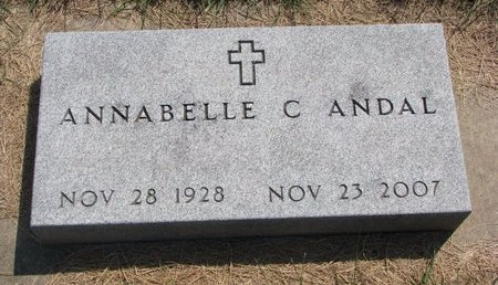 ANDAL, ANNABELLE C. - Turner County, South Dakota | ANNABELLE C. ANDAL - South Dakota Gravestone Photos
