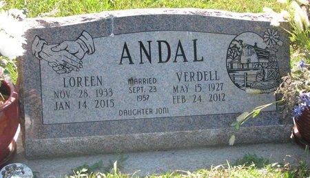 ANDAL, VERDELL - Turner County, South Dakota | VERDELL ANDAL - South Dakota Gravestone Photos