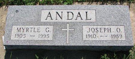 ANDAL, JOSEPH O. - Turner County, South Dakota | JOSEPH O. ANDAL - South Dakota Gravestone Photos