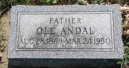 ANDAL, OLE - Turner County, South Dakota | OLE ANDAL - South Dakota Gravestone Photos