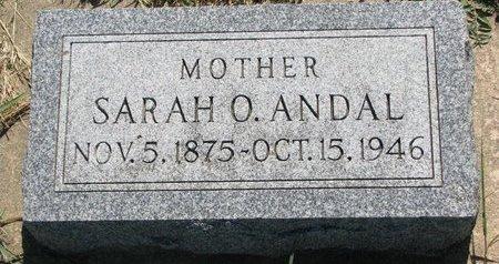 ANDAL, SARAH O. - Turner County, South Dakota | SARAH O. ANDAL - South Dakota Gravestone Photos