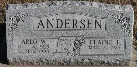 ANDERSEN, ARLO W - Turner County, South Dakota | ARLO W ANDERSEN - South Dakota Gravestone Photos