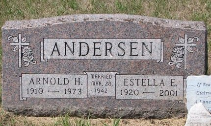 ANDERSEN, ARNOLD H. - Turner County, South Dakota | ARNOLD H. ANDERSEN - South Dakota Gravestone Photos