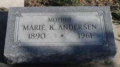 ANDERSEN, MARIE K - Turner County, South Dakota   MARIE K ANDERSEN - South Dakota Gravestone Photos