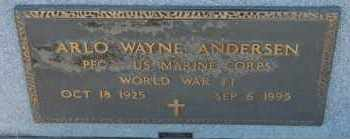 ANDERSEN, ARLO WAYNE (WWII) - Turner County, South Dakota | ARLO WAYNE (WWII) ANDERSEN - South Dakota Gravestone Photos