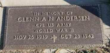 ANDERSEN, GLENN A N (WWII) - Turner County, South Dakota | GLENN A N (WWII) ANDERSEN - South Dakota Gravestone Photos