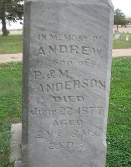 ANDERSON, ANDREW (CLOSE UP) - Turner County, South Dakota   ANDREW (CLOSE UP) ANDERSON - South Dakota Gravestone Photos