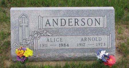 ANDERSON, ALICE - Turner County, South Dakota | ALICE ANDERSON - South Dakota Gravestone Photos