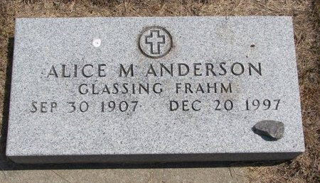ANDERSON, ALICE M. - Turner County, South Dakota | ALICE M. ANDERSON - South Dakota Gravestone Photos