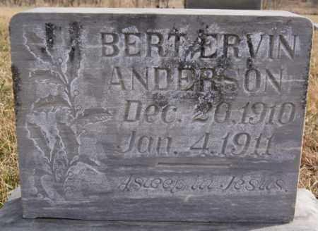 ANDERSON, BERT ERVIN - Turner County, South Dakota   BERT ERVIN ANDERSON - South Dakota Gravestone Photos