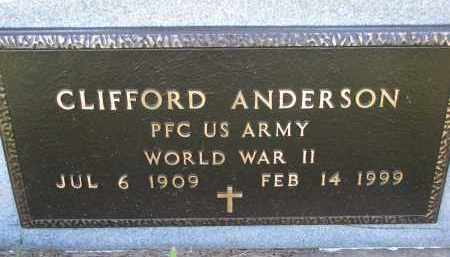 ANDERSON, CLIFFORD (WW II) - Turner County, South Dakota | CLIFFORD (WW II) ANDERSON - South Dakota Gravestone Photos
