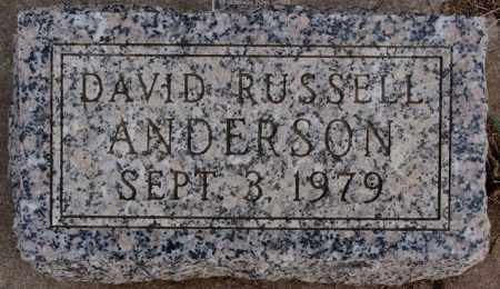 ANDERSON, DAVID RUSSELL - Turner County, South Dakota | DAVID RUSSELL ANDERSON - South Dakota Gravestone Photos