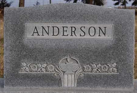 ANDERSON, FAMILY MARKER - Turner County, South Dakota   FAMILY MARKER ANDERSON - South Dakota Gravestone Photos