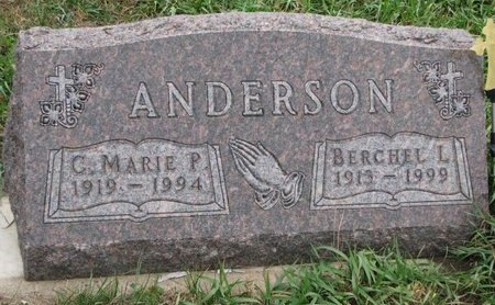 ANDERSON, BERCHEL L. - Turner County, South Dakota | BERCHEL L. ANDERSON - South Dakota Gravestone Photos