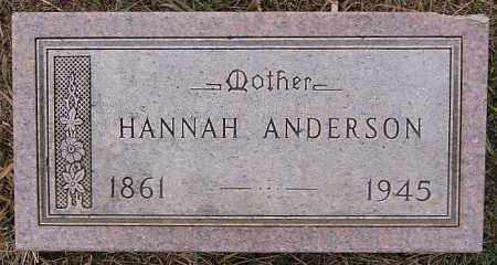 ANDERSON, HANNAH - Turner County, South Dakota   HANNAH ANDERSON - South Dakota Gravestone Photos