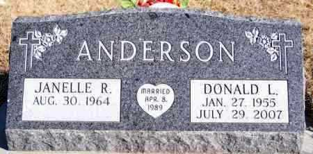 ANDERSON, DONALD L - Turner County, South Dakota | DONALD L ANDERSON - South Dakota Gravestone Photos