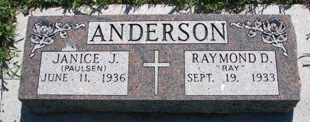 ANDERSON, RAYMOND D. - Turner County, South Dakota | RAYMOND D. ANDERSON - South Dakota Gravestone Photos