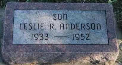 ANDERSON, LESLIE R - Turner County, South Dakota | LESLIE R ANDERSON - South Dakota Gravestone Photos